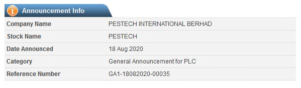 PESTECH Announcement: Intention to Deal During Closed Period - 02