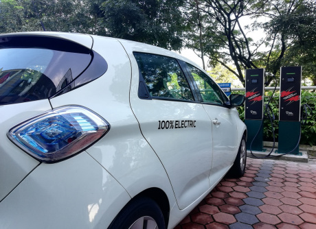 PESTECH EV Charger Station at Shaftsbury Square, Cyberjaya