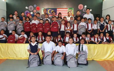 Pestech Sponsored School Bags To Three Schools In Sri Aman, Sarawak